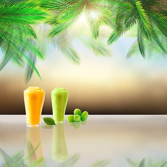 Smoothie, Drink, Glasses, Summer, Sweet, Cold
