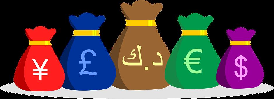 Money Bags, Money, Currencies, Cash, Economy, Finance