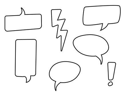 Speech Balloon, Flash, Talk, Blank, Speech Bubble