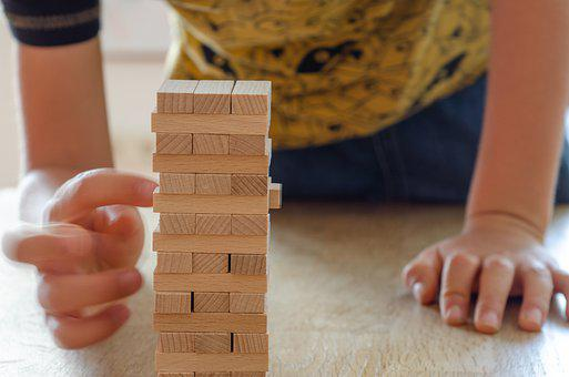 Jenga, Wooden Blocks, Game, Strategy, Risk, Board Game