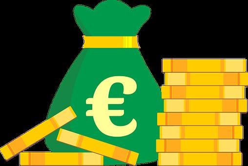Money Bag, Coins, Euro, Money, Currency, Cash, Finance