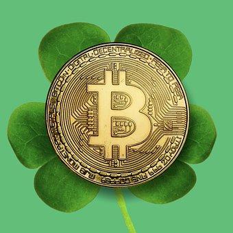 Bitcoin, Money, Lucky, Four-leaf Clover, Cryptocurrency