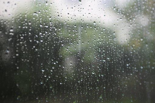 Rain, Raindrops, Window, Glass, Water Droplets