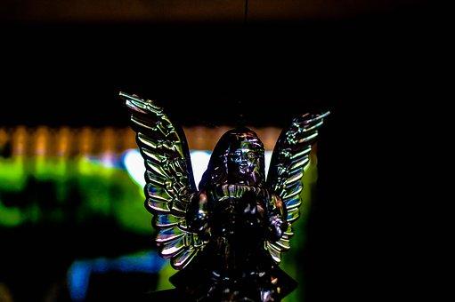 Angel, Wings, Glass, Crystal, Figure, Figurine
