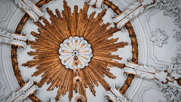 Dome, Chapel, Church, Gold, Aachen, Hungary