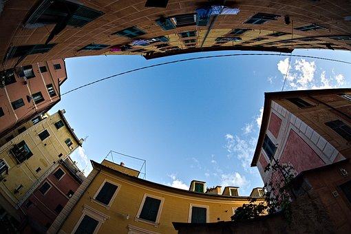 Village, Houses, Camogli, Liguria, Genoa, Recco, Piazza