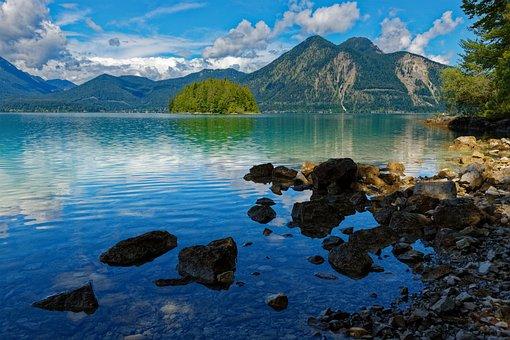 Walchensee, Lake, Mountains, Nature, Scenery, Alpine