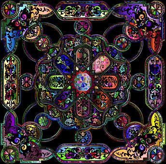 Tile, Pattern, Design, Decor, Old, Ornamental, Antique