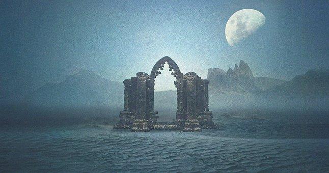 Portal, Gate, Arch, Archway, Door, Historically, Desert