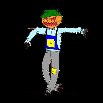 Scarecrow, Pumpkin, Halloween, Ghost, Horror, Scary