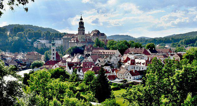 Krumlov, Czech, Town, Castle, Buildings, český Krumlov