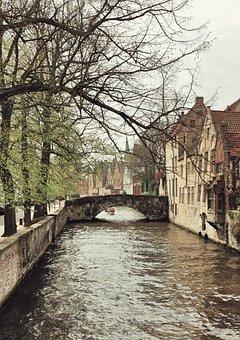 River, Bridge, Buildings, Sightseeing, City