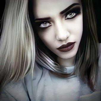 Woman, Face, Blonde, Eyes, Hair, Lips, Skin, Female