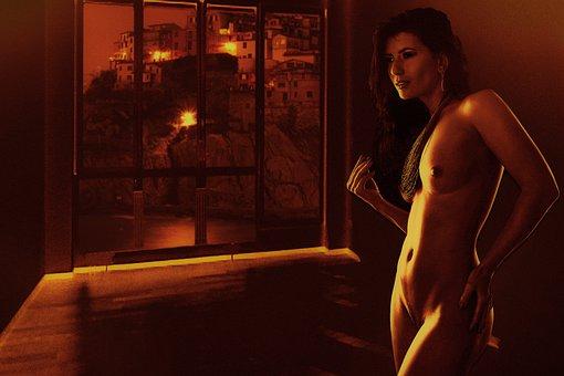 Woman, Nude, Female, Room, Erotic, Window, Model