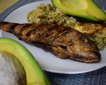 Fried Fish, Rice, Dish, Food, Fish, Gourmet, Seafood