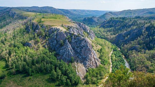 Muradymovskoe Gorge, Mountains, River, Nature, Panorama
