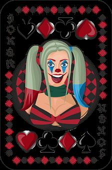 Card, Joker, Harley Quinn, Play, Poker, Good Luck