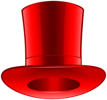 Top Hat, Hat, Red, Fashion, Style, Cut Out, Magic