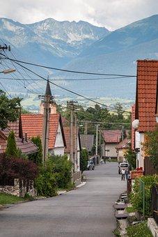 Liptovsky Jan, Village, Street, Slovakia, Liptov, Road
