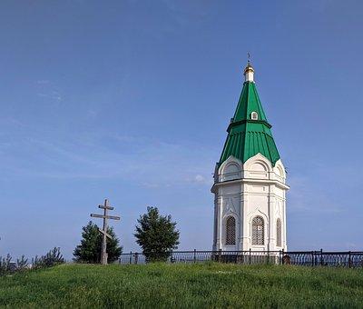 Chapel, Mountain Top, Krasnoyarsk, Russia