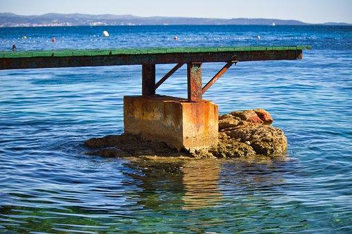 Ocean, Sea, Pier, Summer, Tranquility, Seaside