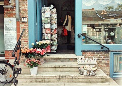 Shop, Tulips, Roses, Flowers, Europe, Belgium, Travel