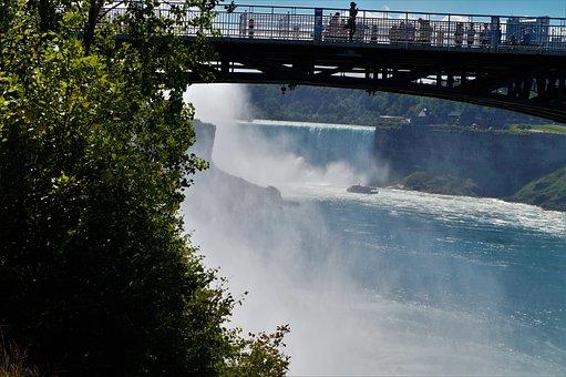 Bridge, Niagara Falls, River, Splash, Waterfall, Falls
