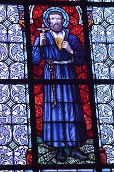 Stained Glass, Window, Church, Saint, Francis Xavier