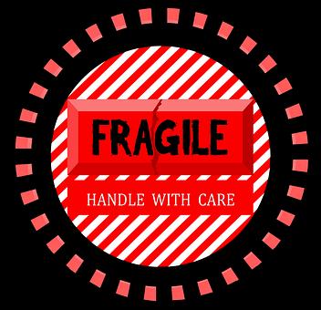 Sign, Warning, Fragile, Label, Sticker, Care, Package