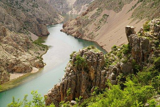 Canyon, Valley, Flow, Sandstone, Desert, Landscape