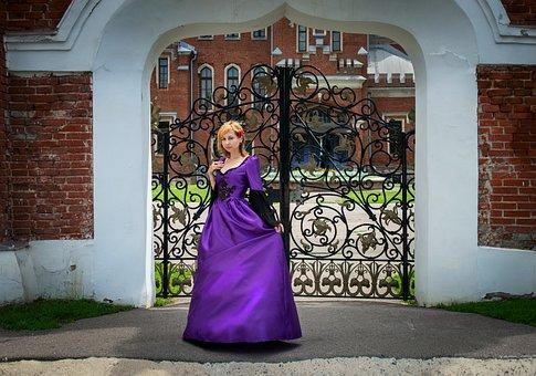 Gate, Castle, Architecture, Lady, Arch, Old, Entrance