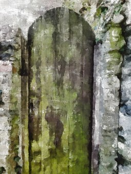 Old, Aged, Door, Wood, Wooden, Grunge, Mould, Stone