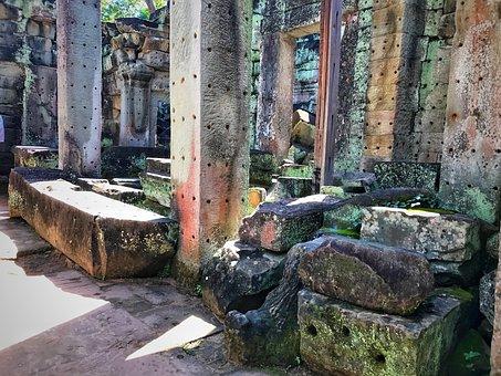 Preah Khan, Temple, Cambodia, Architecture, Angkor