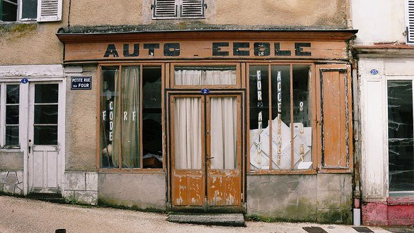 Auto School, Trade, Village, Lormes, Burgundy, Nièvre