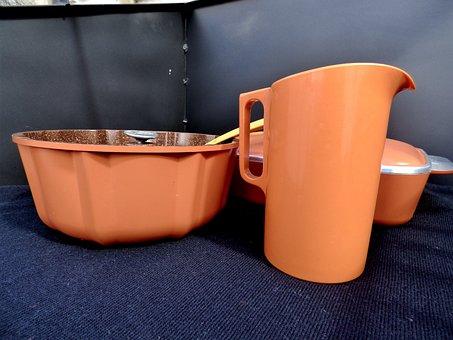Savarin, Jar, Containers, Orange Color
