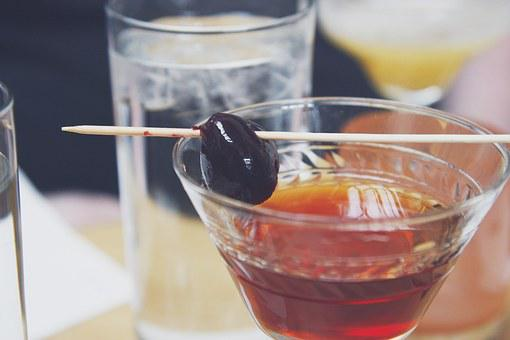 Cocktail, Beverage, Cherry, Alcohol, Drink, Refreshment