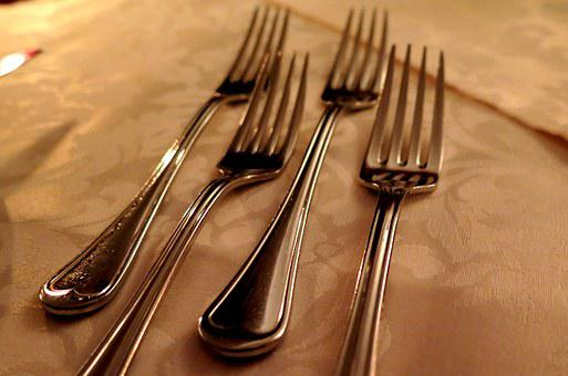 Forks, Cutlery, Kitchen Cutlery, Silver