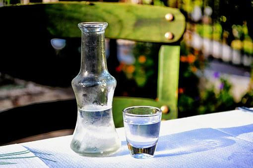 Shot, Alcool, Greek, Ouzo, Greece, Table, Bottle, Glass