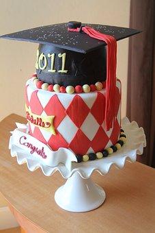 Graduation, Graduation Cake, Chocolate, Sweet, Birthday
