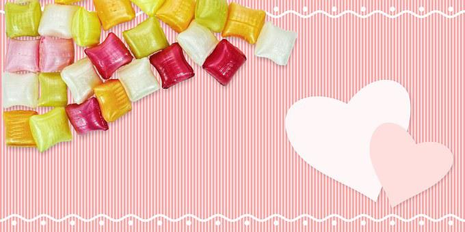 Heart, Love, Map, Postcard, Coupon, Background, Candy