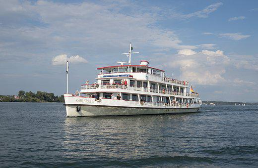 Lake Constance, Ship, Karlsruhe, Summer