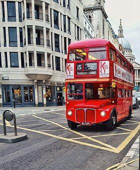 Bus, London, City, Tourism, Uk, Kingdom, United