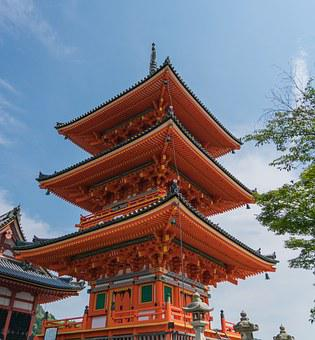 Kyoto, Japan, Kiyomizu Temple, Asia, Japanese, Landmark