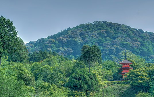 Kyoto, Japan, Mountains, Landscape, Kiyomizu Temple