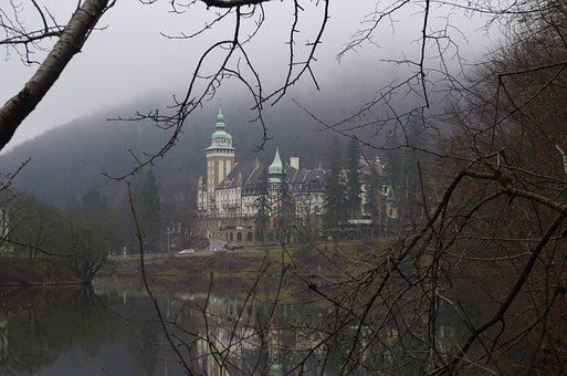 Palace, Castle, Lake, Forest Lake, Mountains, Mountain