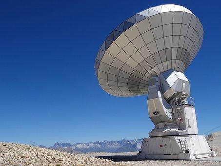 Radio Telescope, Astronomy, Bure Peak, Antenna