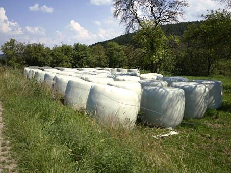 Agriculture, Cattle Feed, Silo, Food, Wrapped Up
