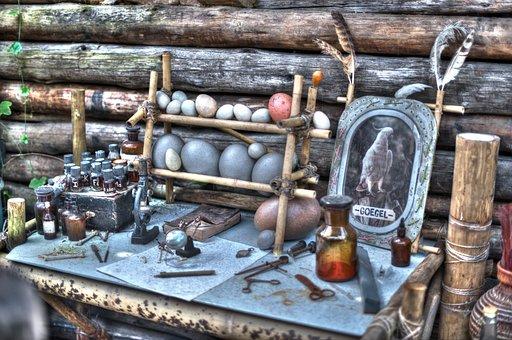 Bird, Feather, Eggs, Quack, Table, Jars, Spices