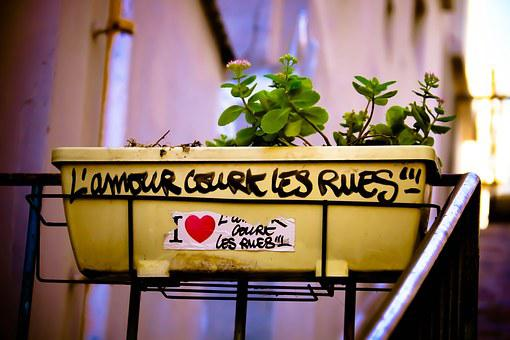 Quote, Love, Paris, Street, Couple, France, Padlock
