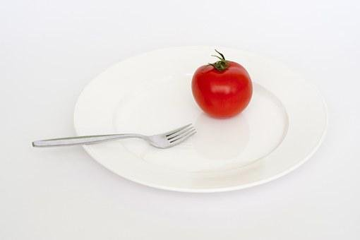 Plate, Tomato, Red, Fork, Diet, Fat, Health, Weight